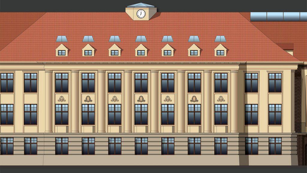 Außsschnitt: Fassadengestaltung 2