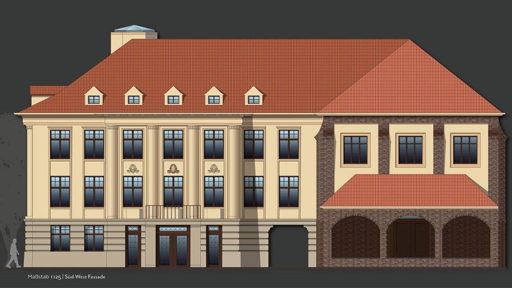 Außsschnitt: Fassadengestaltung