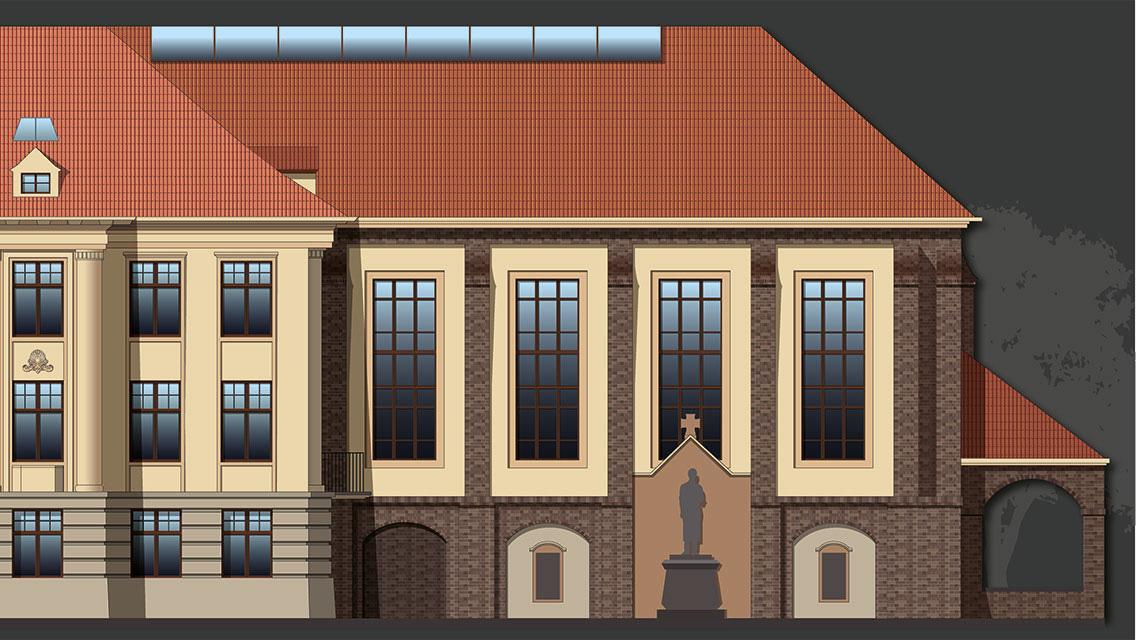 Außsschnitt: Fassadengestaltung 3