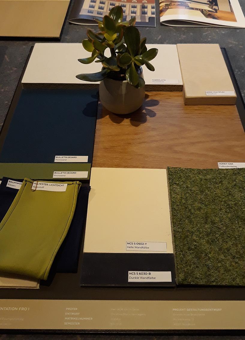 Materialboard Innenraum